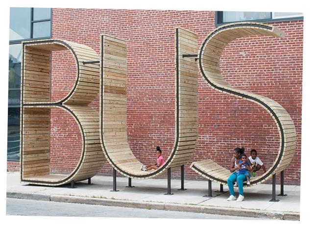 BUS sculpture