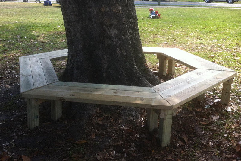 Amazing How To Build A Tree Bench Diy Play Projects Kaboom Gmtry Best Dining Table And Chair Ideas Images Gmtryco