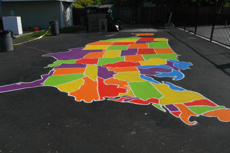 How To Paint U S  and World Maps | KaBOOM!