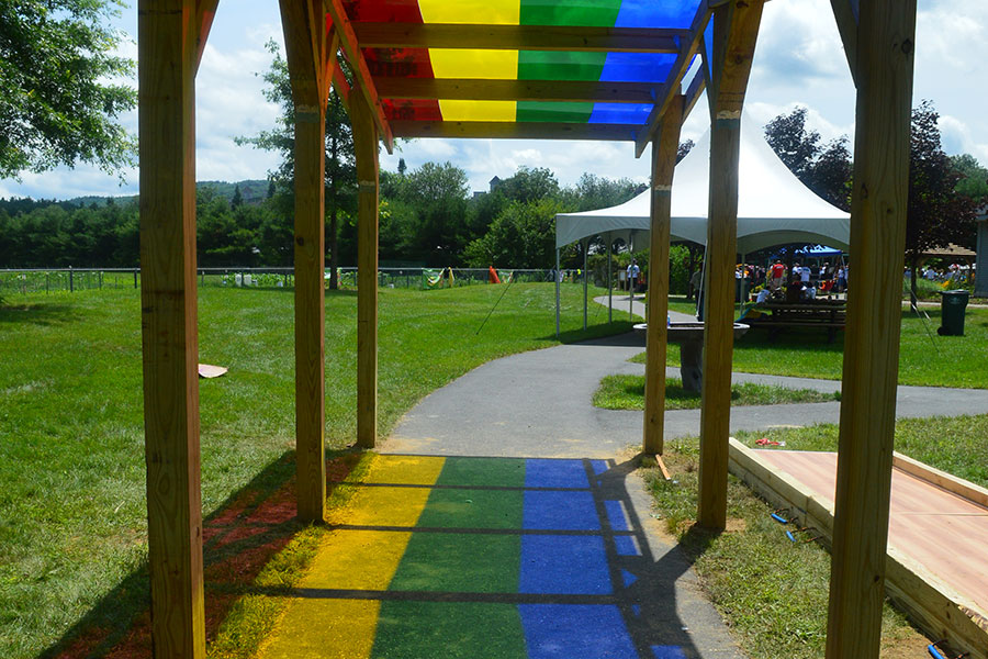 Rainbow Shade Structure 2