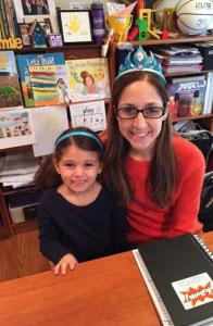 Sarah Pinksy and daughter
