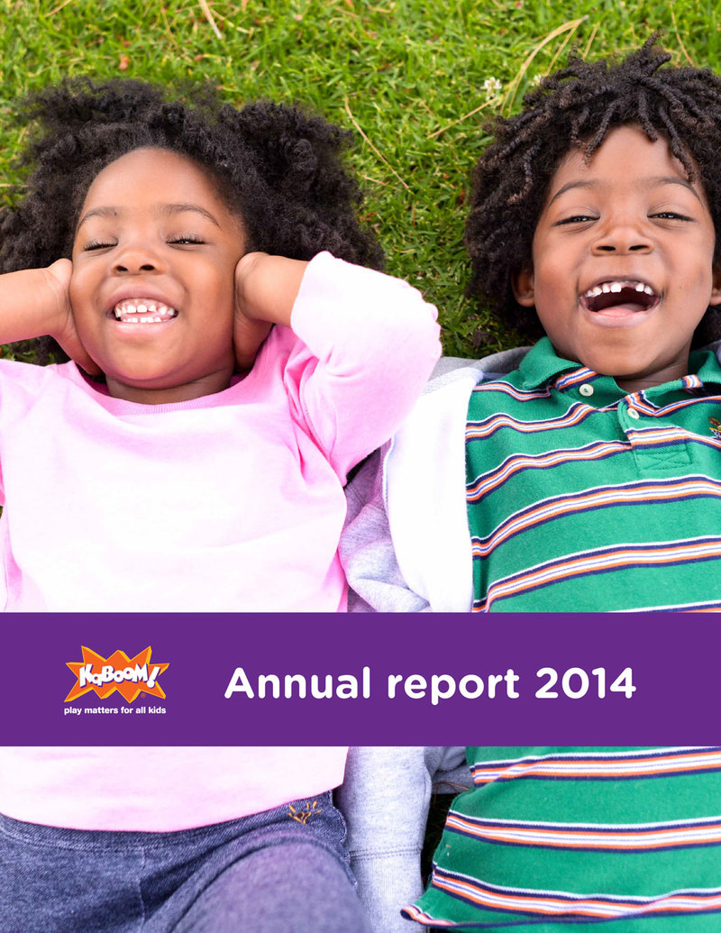 2014 KaBOOM! Annual Report