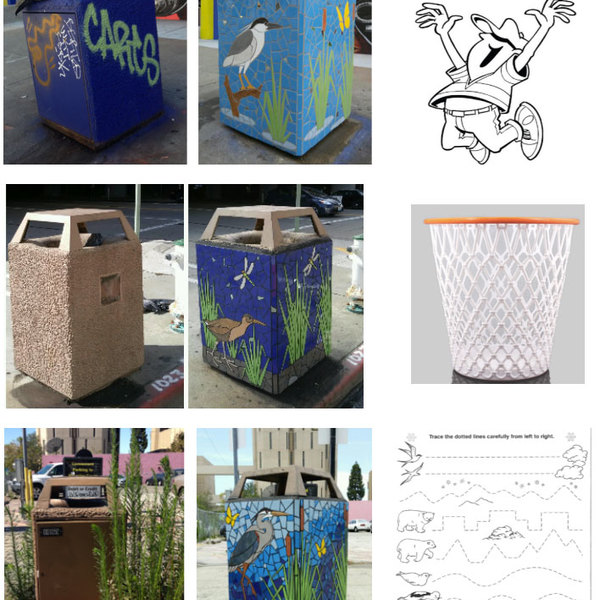 Play Oakland Mosaic Trash Can Makeovers
