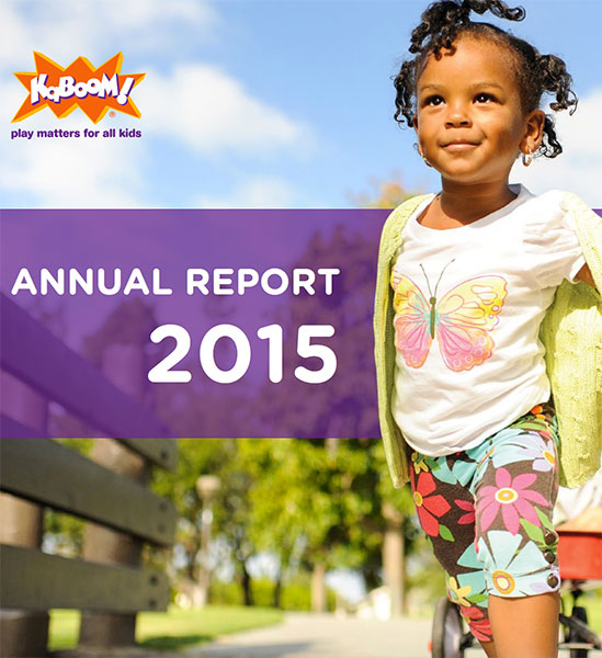 2015 KaBOOM! Annual Report