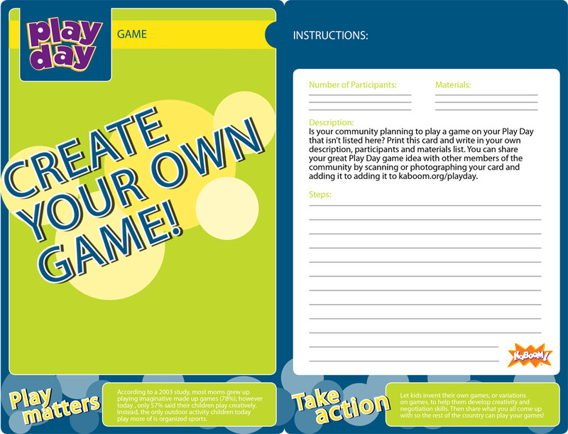 Create Your Own Information Card