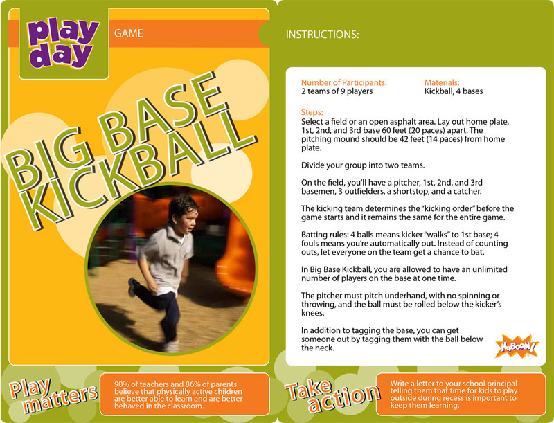 Big Base Kickball Information Card