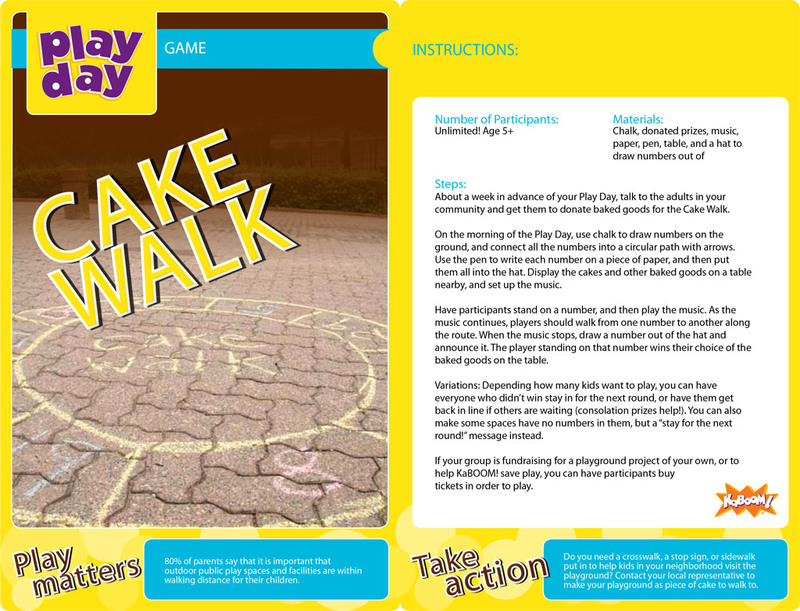 Cake Walk Information Card