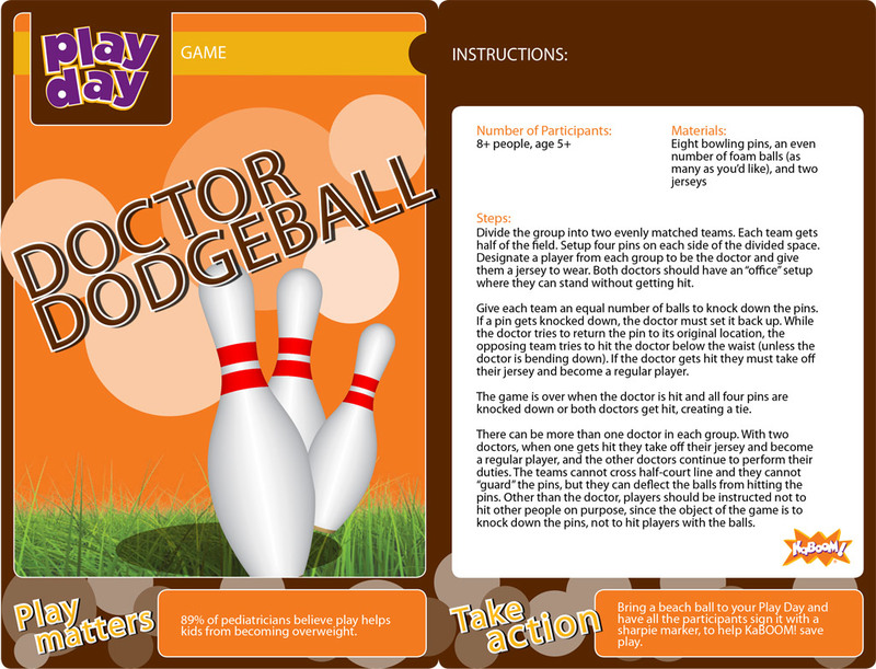 Doctor Dodgeball Information Card