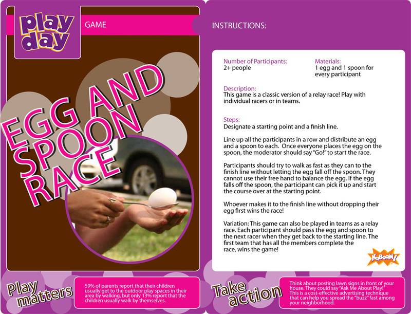Egg and Spoon Race Information Card