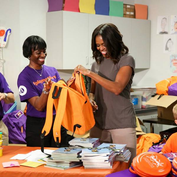 Day of Service 2014 with President and First Lady Obama 3