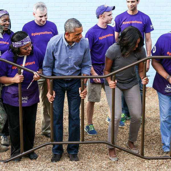 Day of Service 2014 with President and First Lady Obama 5
