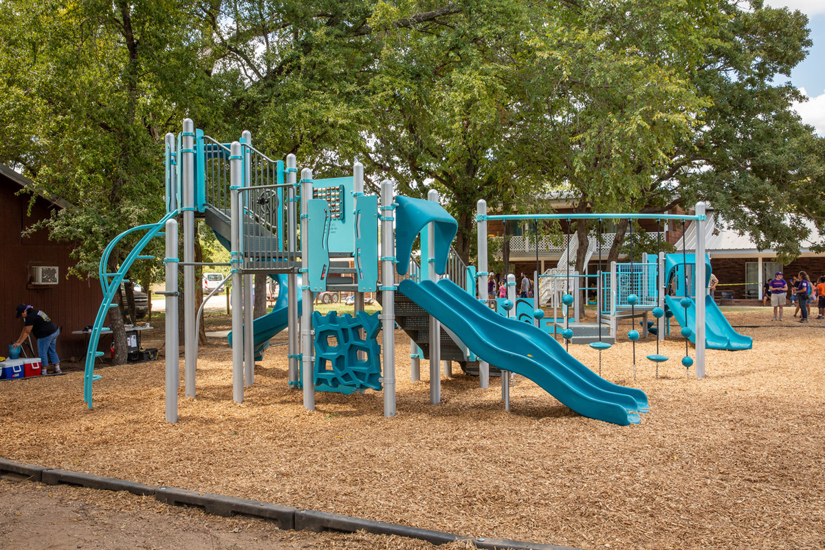 rebuild texas family link finished playground