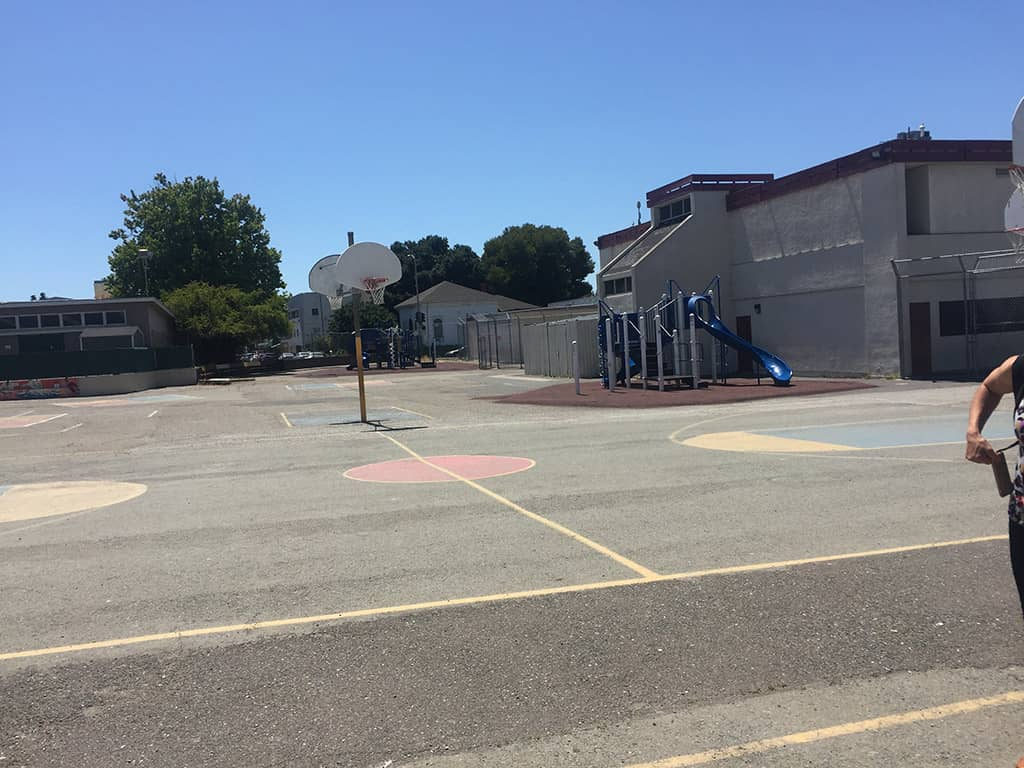 Franklin Elementary's playspace in 2019